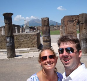 Image of Mark & Julie at Pompeii
