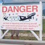 Airplane Warning St. Martin Image