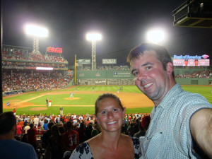 Image of Mark and Julie at Fenway Park