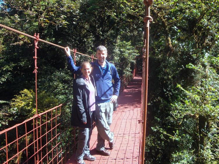 Image of suspension bridge in Monteverde