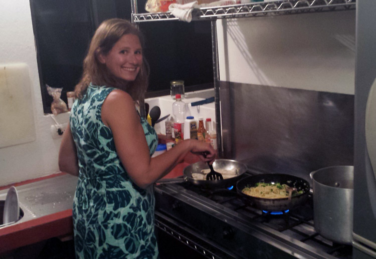Image of Julie cooking