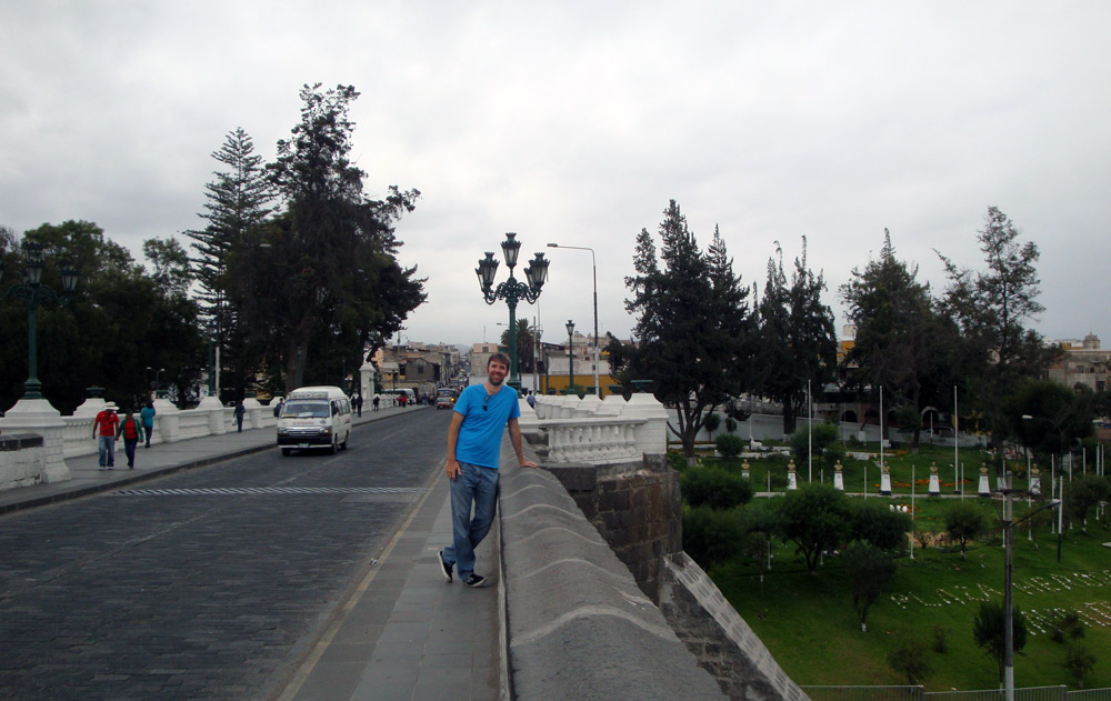 Image of Mark on the Puente Grau.