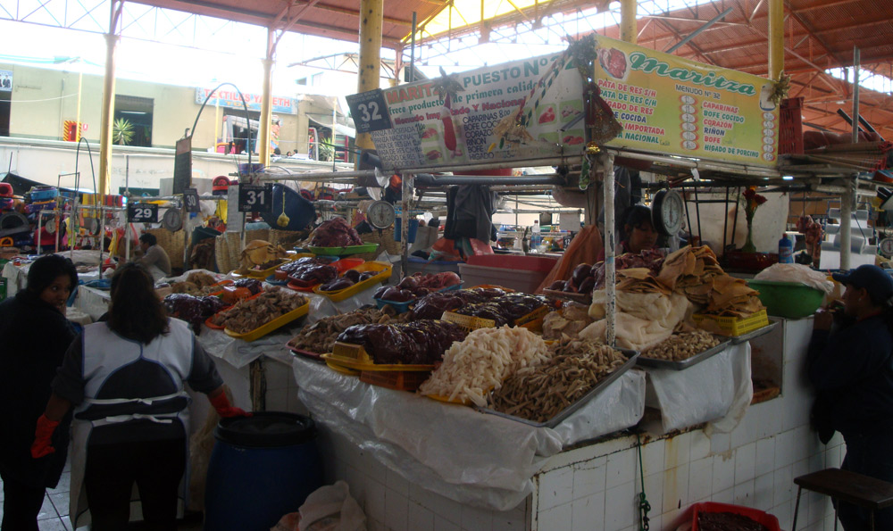 Image of organs at the market