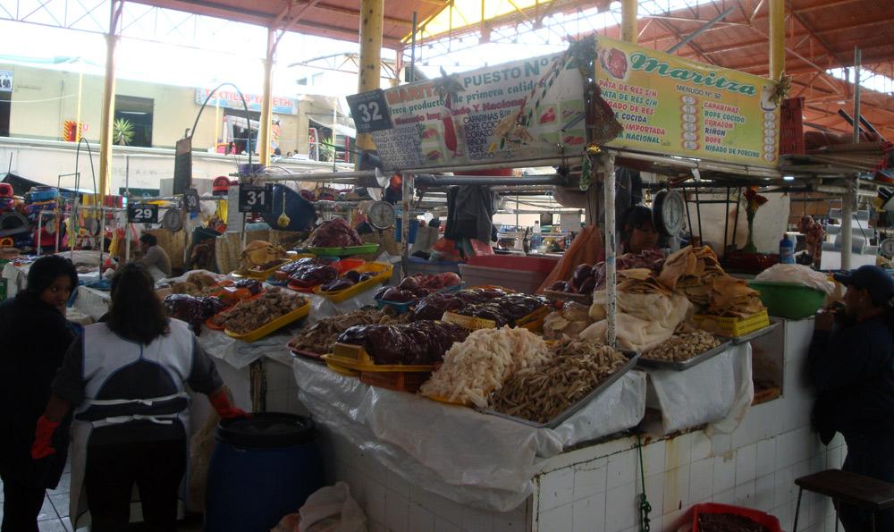 Image of organs at the market