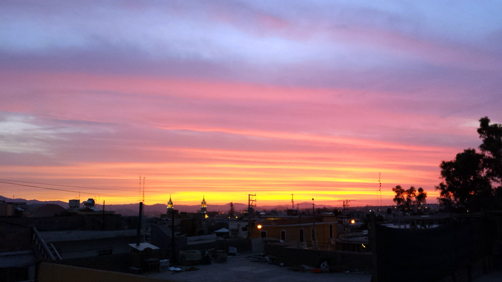 Image of sunset in Arequipa