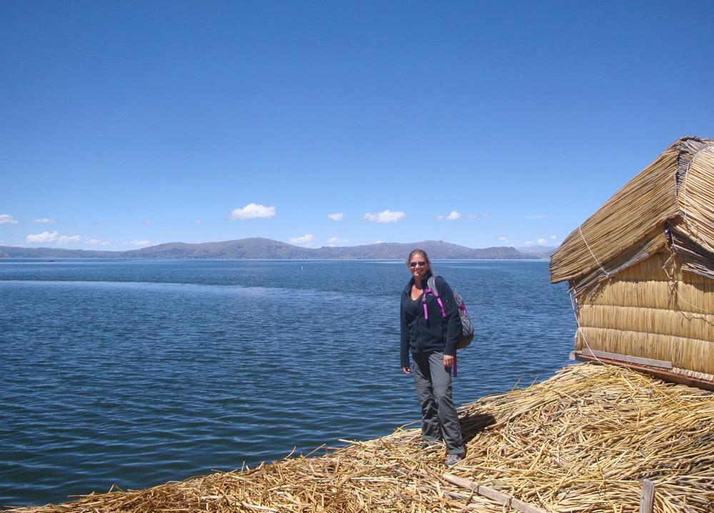 Image of Julie on floating island