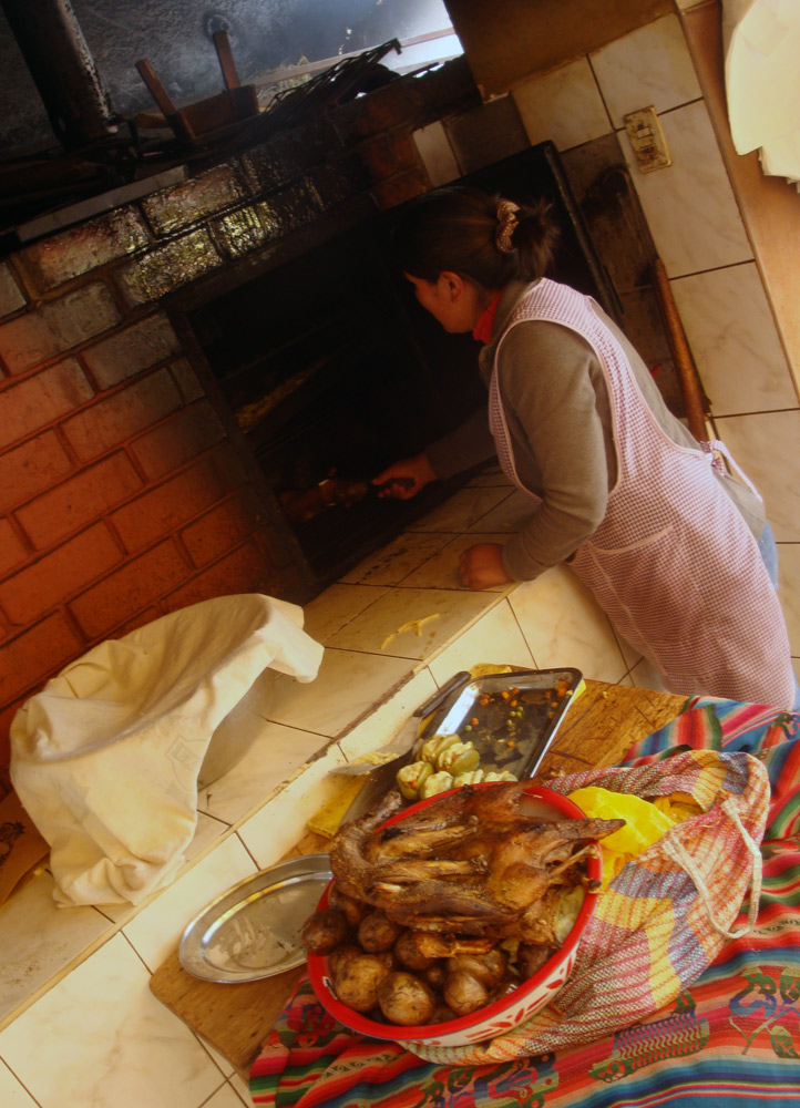 Image of the wood fired oven at the Tipon Cuyeria.