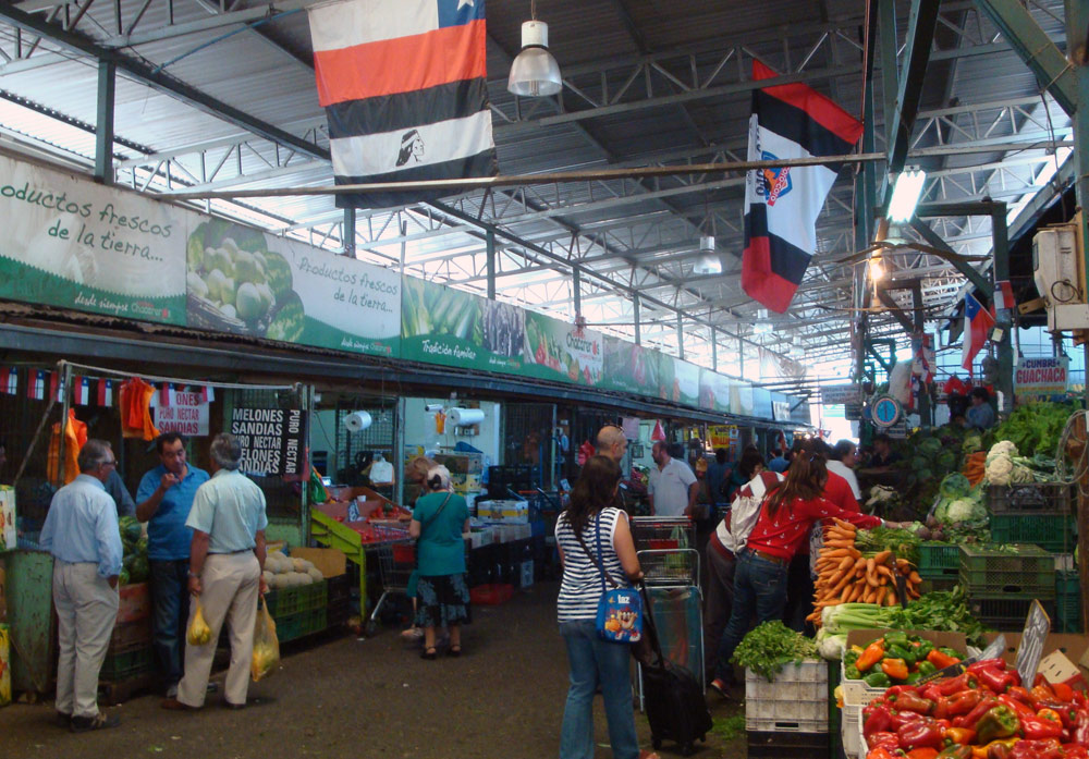 Image of Produce stalls at La Vega