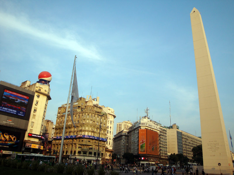 Image of The Obelisk of Buenos Aires.