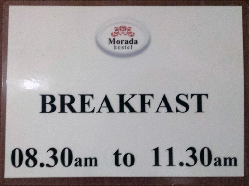 Image of breakfast sign