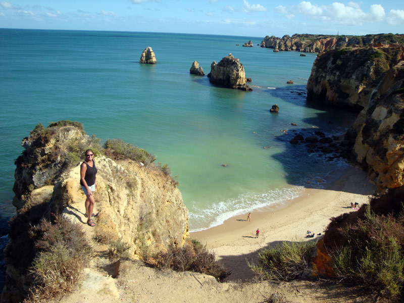 Image of On the cliffs above Praia de Pinhao