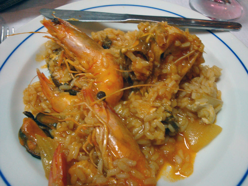 Image of the seafood stew.