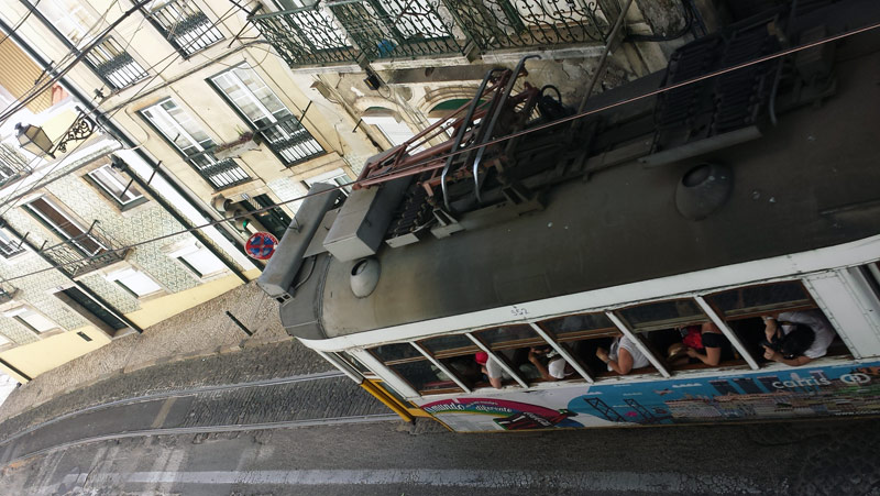 Image of Lisbon tram.