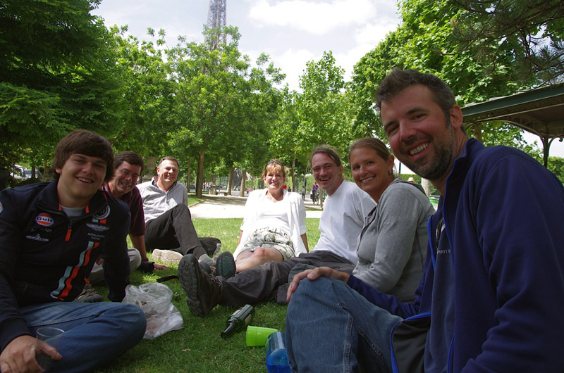 Image of Our last minute, post-Le Mans get together on the Champ de Mars.