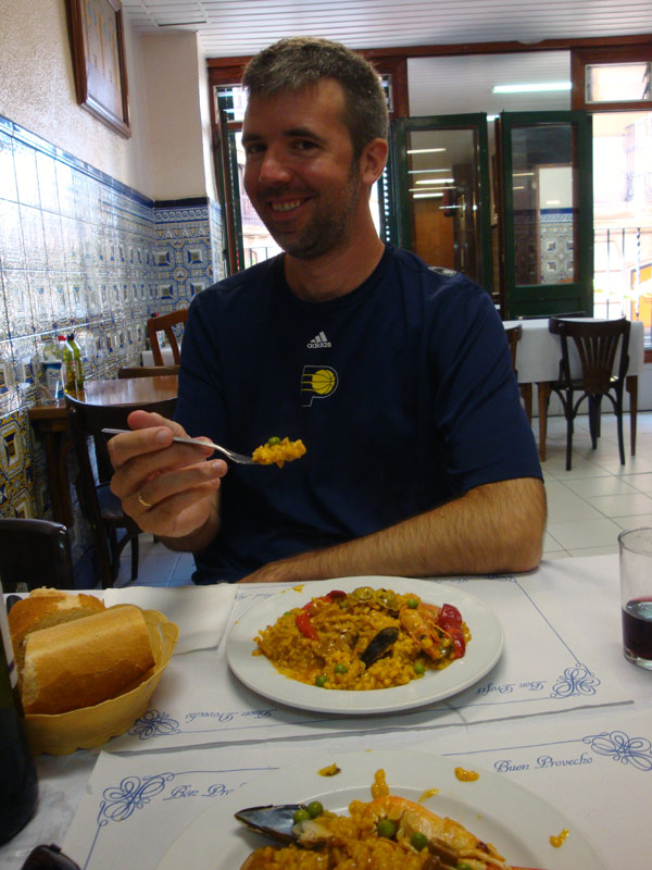 Image of Mark eating paella