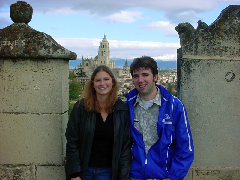 Mark and Julie in Spain in 2004