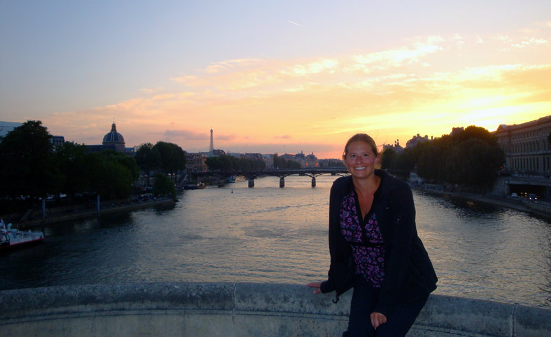 Image of Julie on the Seine in Paris