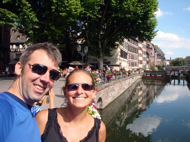 Image of The canals of Strasbourg.