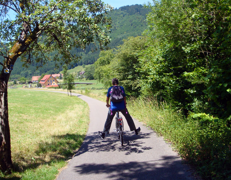 Image of Mark biking through Kinzig Valley