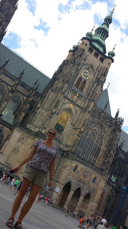 Image of Outside St. Vitus Cathedral inside Prague Castle.