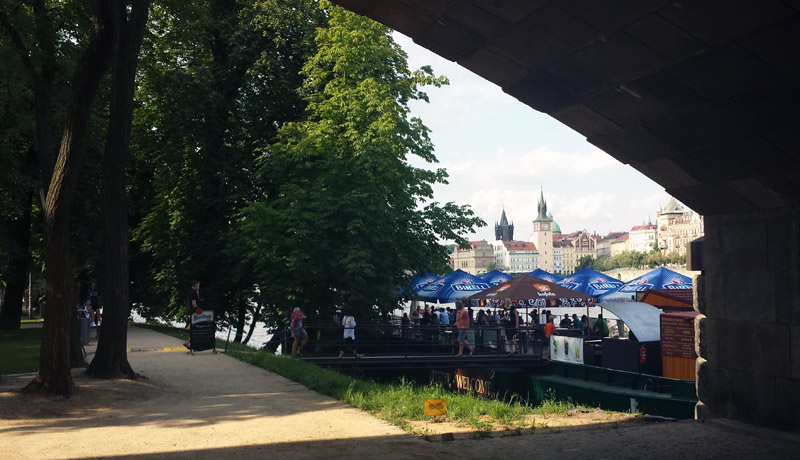 Image of Bar along the Vltava, Prague