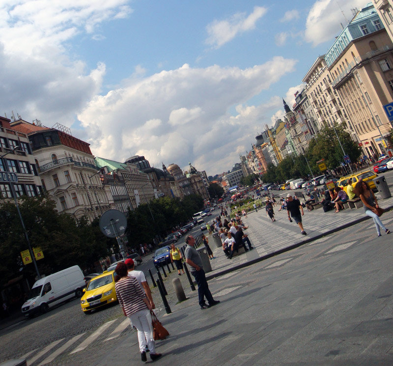 Image of Winceslas Square, Prague.