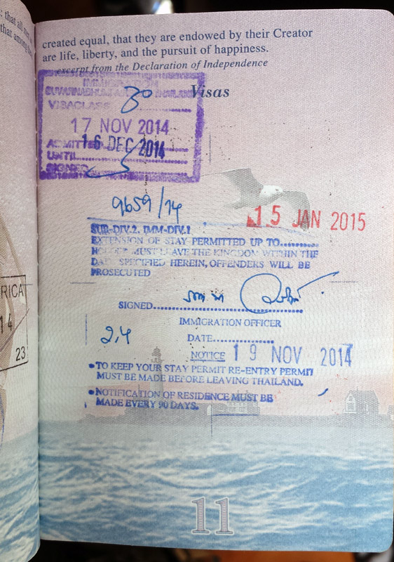 Image of Visa Extension Stamp Thailand