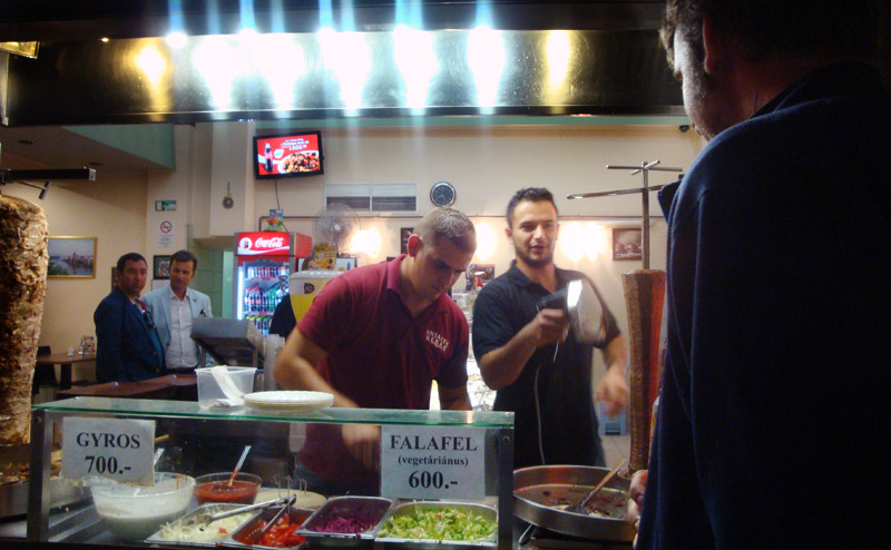 Image of Kebab Stand in Budapest