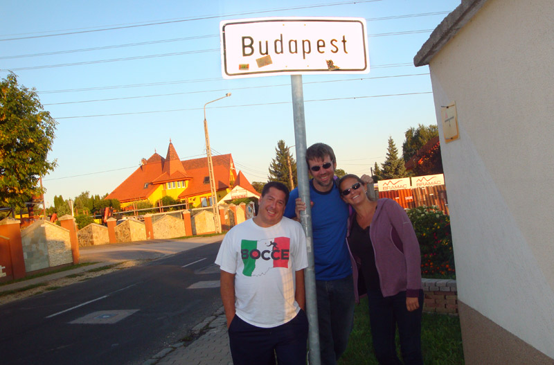 Image of us on the edge of Budapest