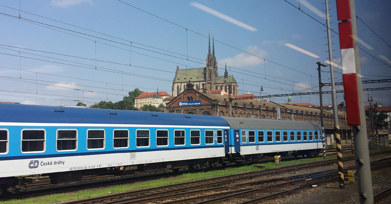 Image of Brno Cathedral from Train Station