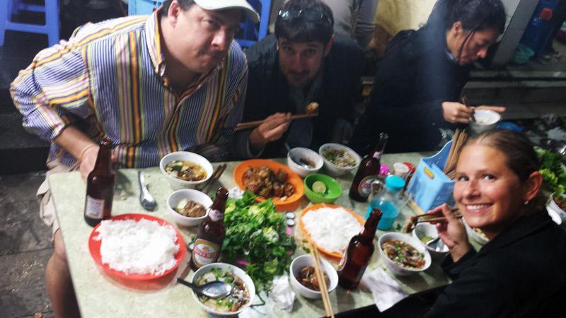 Image of dinner in Vietnam