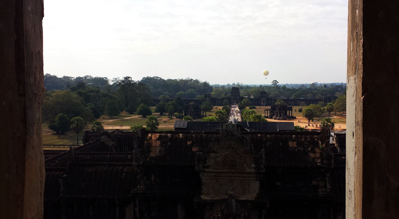 Image of View from the top of Angkor Wat