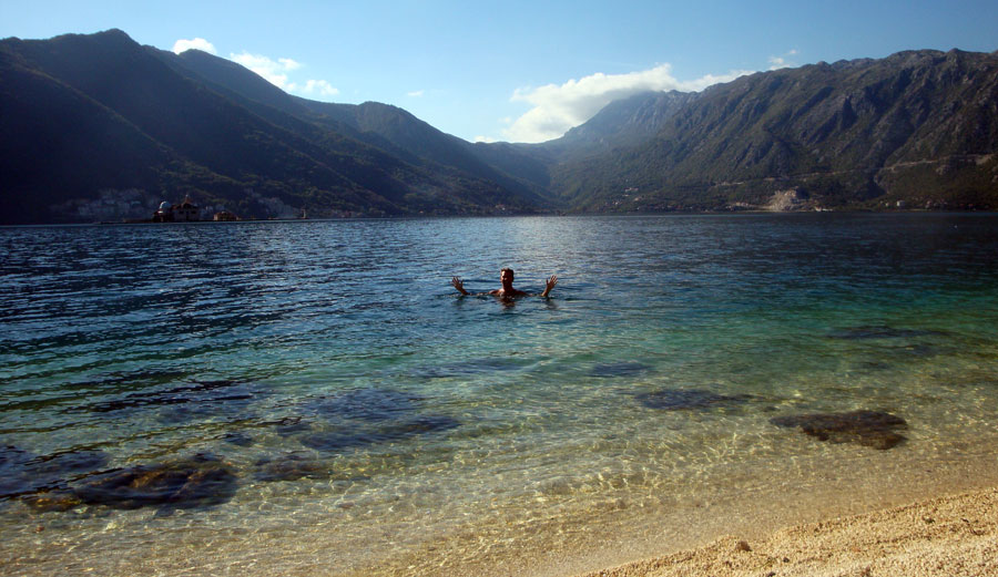 Image of montenegro bayofkotor swimming