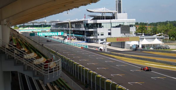 Image of Front stretch of Sepang during F1 practice