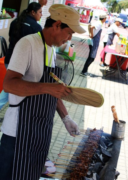 Image of man grilling satay at Sepang Circuit