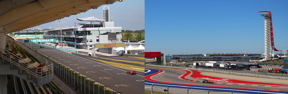 Comparing the Formula 1 Malaysian Grand Prix  and the United States Grand Prix