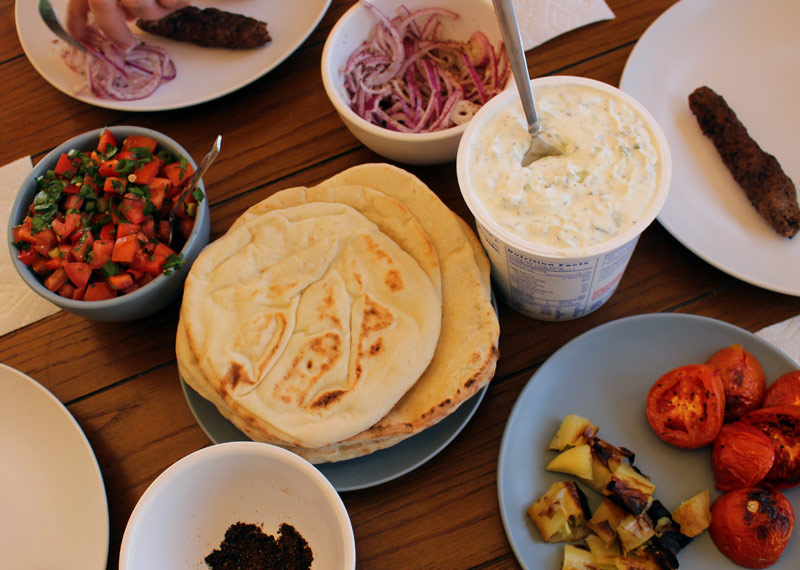 Recipes from the Road: Turkish Adana Kebab Platter